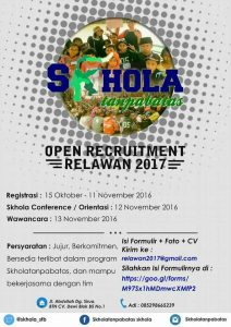 Open Recruitment Relawan 2017